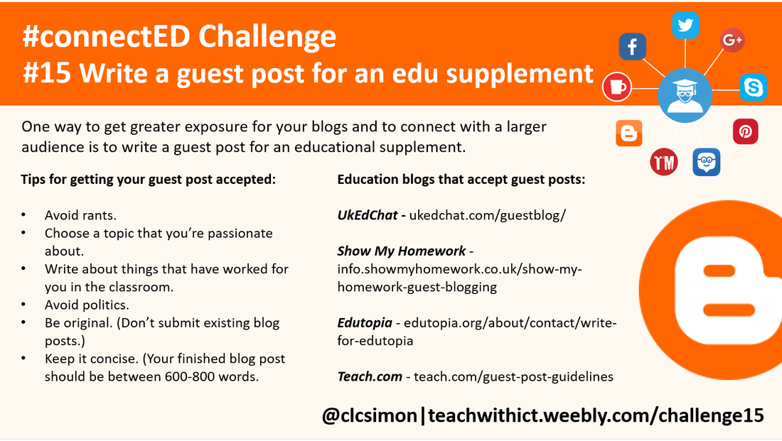 Write a guest post for an education supplement  - teachwithict
